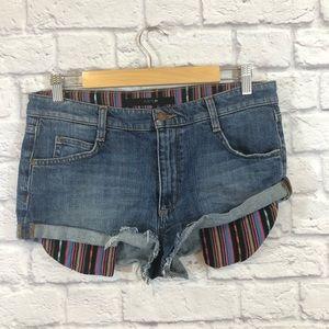 Joe's Jeans Boho Print Jean Shorts Size 31